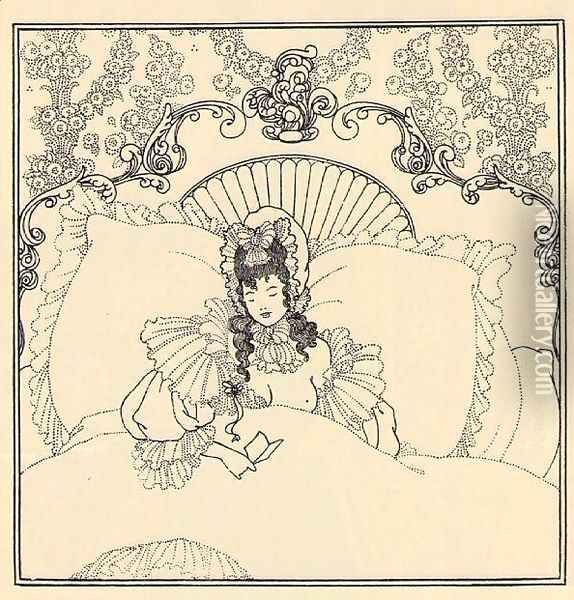 The Billet-Doux Oil Painting - Aubrey Vincent Beardsley
