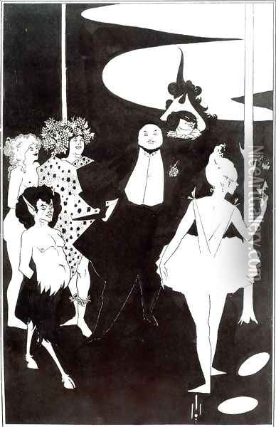 Title Page of 'The Savoy ', No 1 Oil Painting - Aubrey Vincent Beardsley