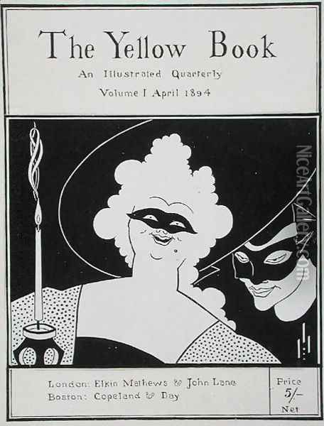 Frontispiece for 'The Yellow Book: An Illustrated Quarterly', Volume I, April 1894 Oil Painting - Aubrey Vincent Beardsley