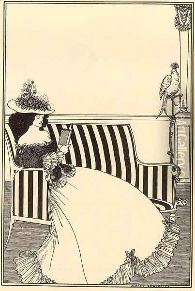 Cover design for Smithers' Catalogue of Rare Books Oil Painting - Aubrey Vincent Beardsley