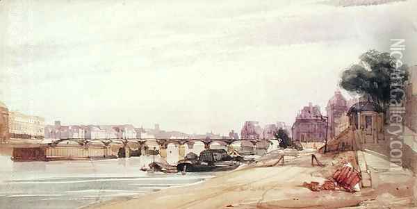 The Pont des Arts, Paris Oil Painting - Thomas Shotter Boys