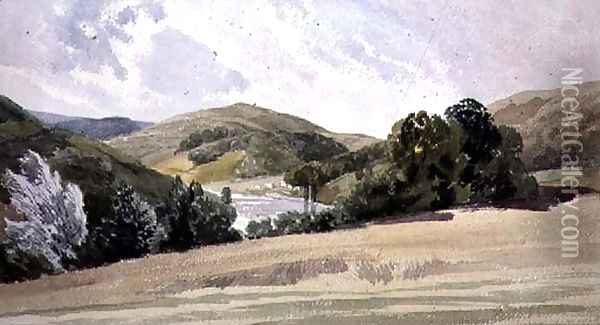 The Vale of Llangollen Oil Painting - Thomas Shotter Boys