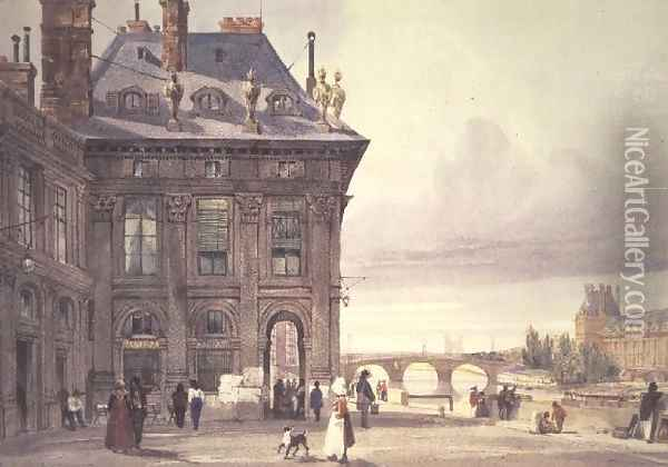 The Pont Royal and the Tuileries seen from the Institut, Paris Oil Painting - Thomas Shotter Boys