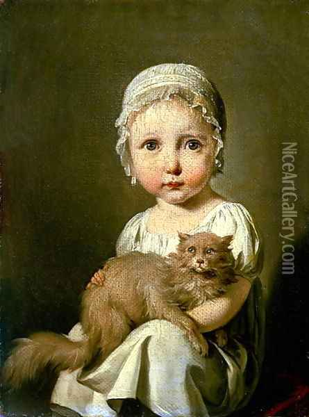 Gabrielle Arnault Oil Painting - Louis Leopold Boilly