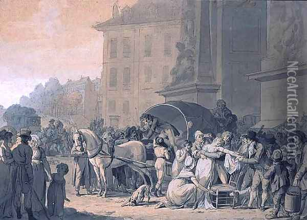Accident next to the door 'Saint Denis' Oil Painting - Louis Leopold Boilly
