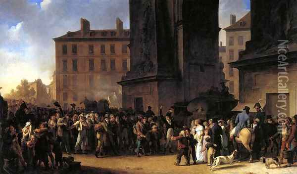 Departure of the Conscripts in 1807, 1808 Oil Painting - Louis Leopold Boilly