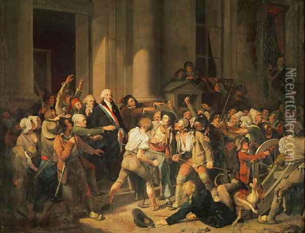 Act of Courage of Monsieur Defontenay, Mayor of Rouen, 29th August 1792 Oil Painting - Louis Leopold Boilly