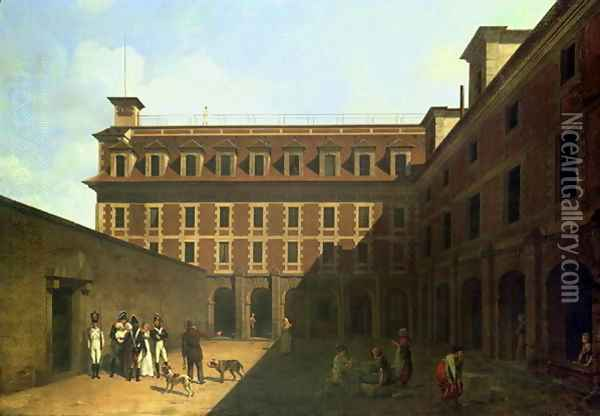 The Prison des Madelonnettes Oil Painting - Louis Leopold Boilly
