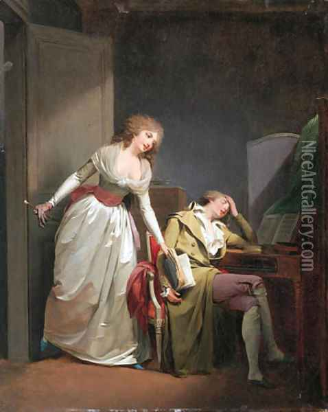 The deceptive sleep 'Le Sommeil trompeur' Oil Painting - Louis Leopold Boilly
