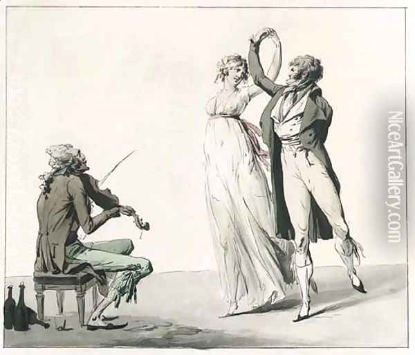 La Folie du Jour Oil Painting - Louis Leopold Boilly