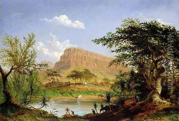 Entrance to the Second or Upper Part of the Wickham or West Branch of the Victoria River Oil Painting - Thomas Baines