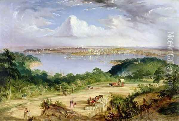Sydney from St.Leonard's Road, North Shore Oil Painting - Thomas Baines