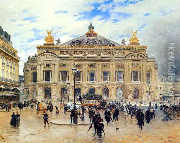 Grand Opera House, Paris Oil Painting - Frank Myers Boggs