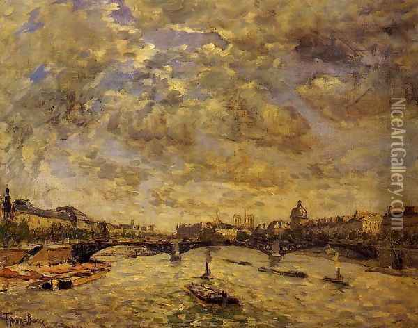 The Pont Carousel Paris Oil Painting - Frank Myers Boggs
