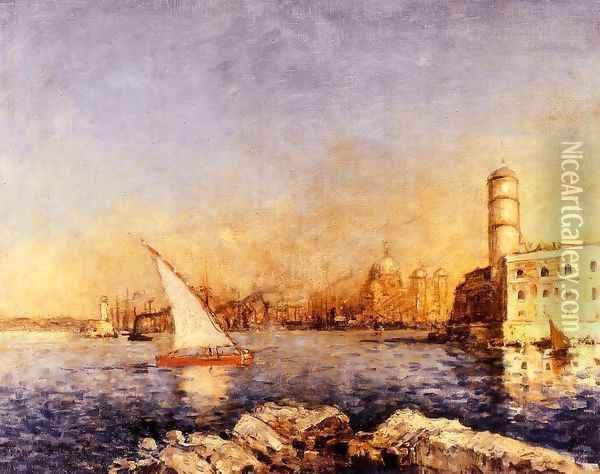 The Port Of Marseille Oil Painting - Frank Myers Boggs