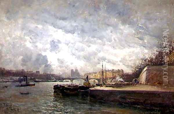 La Seine, Paris Oil Painting - Frank Myers Boggs