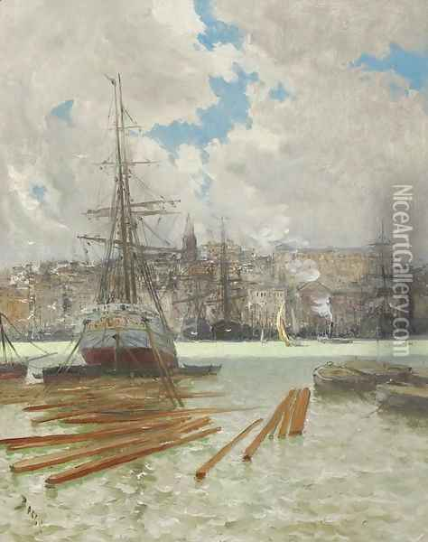 Le Port de Marseille Oil Painting - Frank Myers Boggs