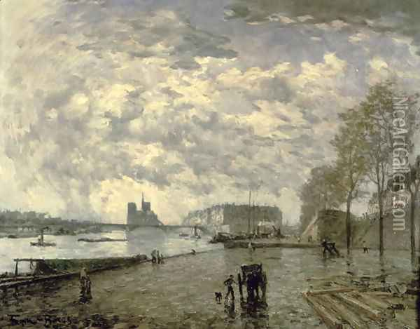 The Seine and Notre Dame Oil Painting - Frank Myers Boggs