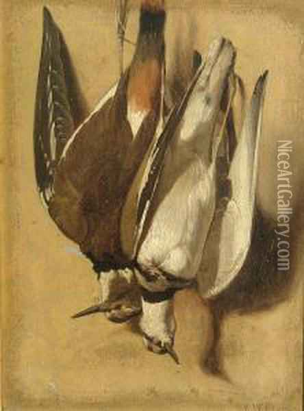 Still Life With Game Birds Oil Painting - Virgil Williams