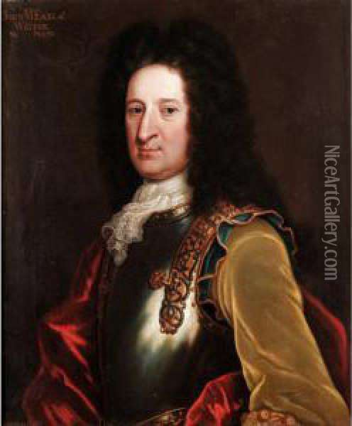 Portrait Of John, 6 Th  Earl Of Wigton (1673-1743) Oil Painting - Williamson