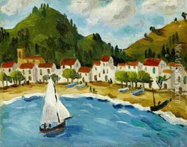 Bay, South Of France Oil Painting - Christopher Wood