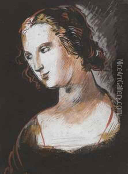 Study After An Italian Master Oil Painting - Christopher Wood