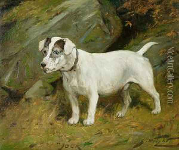 The Terrier 'jock' Oil Painting - George Wright
