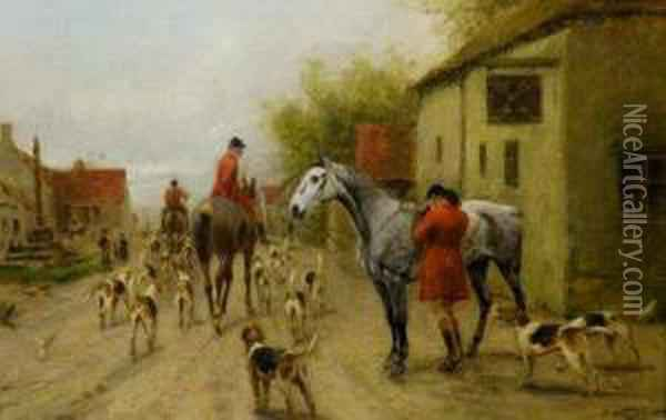 The Hunt Sets Off Oil Painting - George Wright