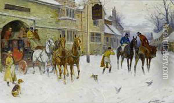 The Bristol Coach Oil Painting - George Wright