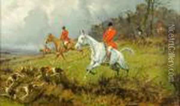 Hunting Scenes Oil Painting - George Wright