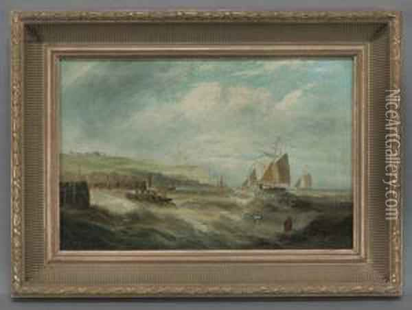 A Seascape Oil Painting - George Wright