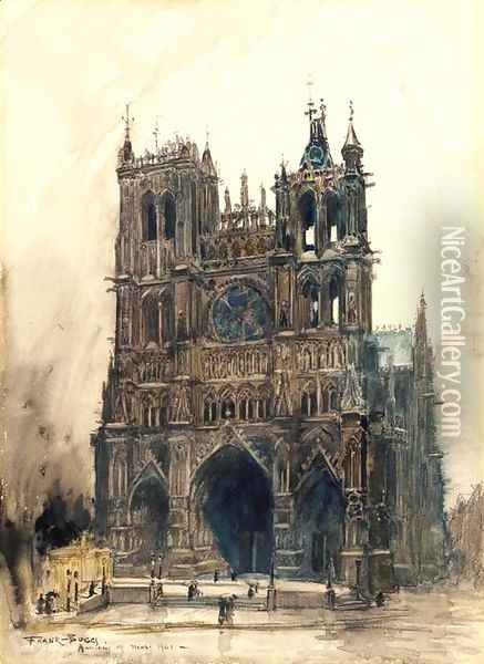 La Cathedrale d'Amiens Oil Painting - Frank Myers Boggs