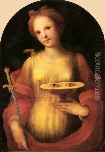 St Lucy 1521 Oil Painting - Domenico Beccafumi