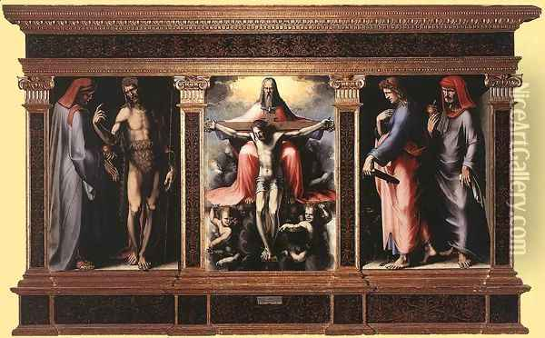 Trinity Oil Painting - Domenico Beccafumi