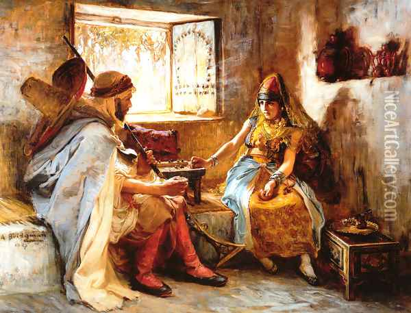 The Game Of Chance Oil Painting - Frederick Arthur Bridgman