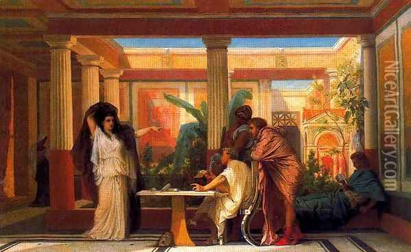 The Rehearsal in the House of the Tragic Poet Oil Painting - Gustave Clarence Rodolphe Boulanger