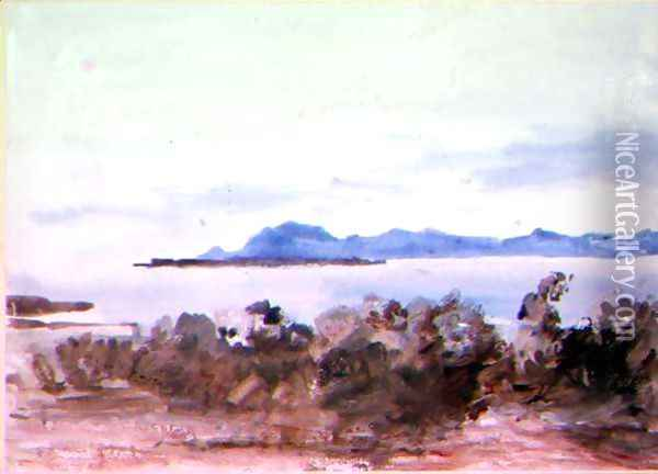 Across the Bay Oil Painting - Hercules Brabazon Brabazon