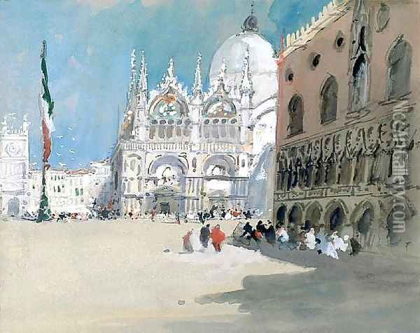 St Marks and the Doge's Palace Oil Painting - Hercules Brabazon Brabazon