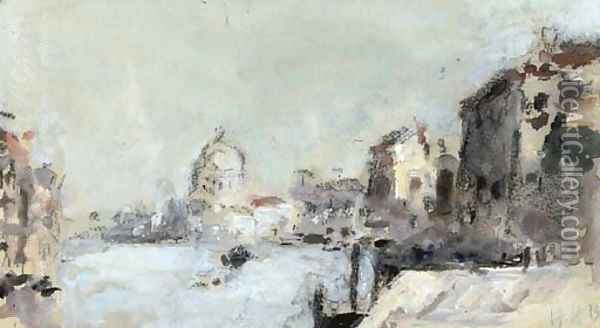 The Grand Canal, Venice 2 Oil Painting - Hercules Brabazon Brabazon