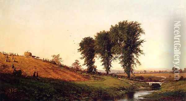 Haying Oil Painting - Alfred Thompson Bricher