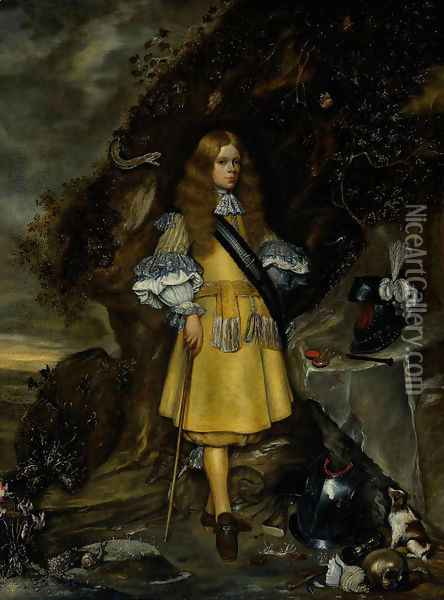 Memorial Portrait of Moses ter Borch 1667-69 Oil Painting - Gerard Ter Borch