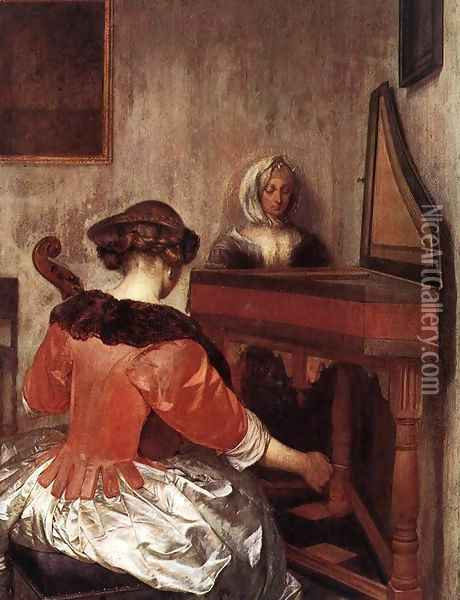 The Concert 1675 Oil Painting - Gerard Ter Borch