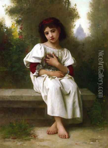In the Garden Oil Painting - Elizabeth Jane Gardner Bouguereau