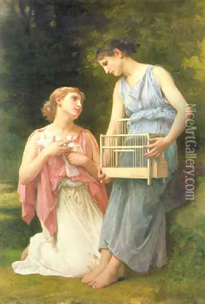 The dove fanciers Oil Painting - Elizabeth Jane Gardner Bouguereau