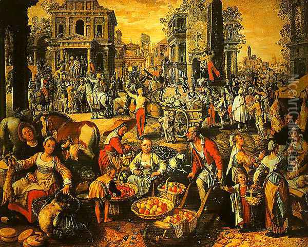 Pilate Shows Jesus to the People Oil Painting - Joachim Beuckelaer