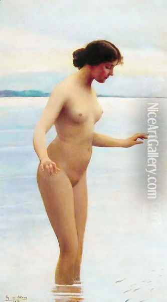In the Water Oil Painting - Eugene de Blaas