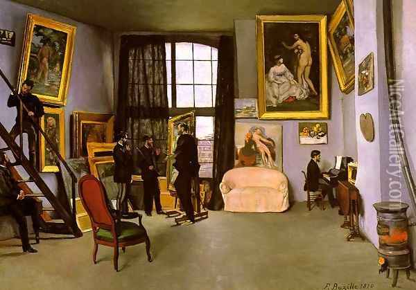 The Artist's Studio - Rue de la Condamine 1870 Oil Painting - Frederic Bazille