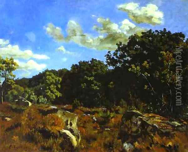 Landscape at Chailly Oil Painting - Frederic Bazille