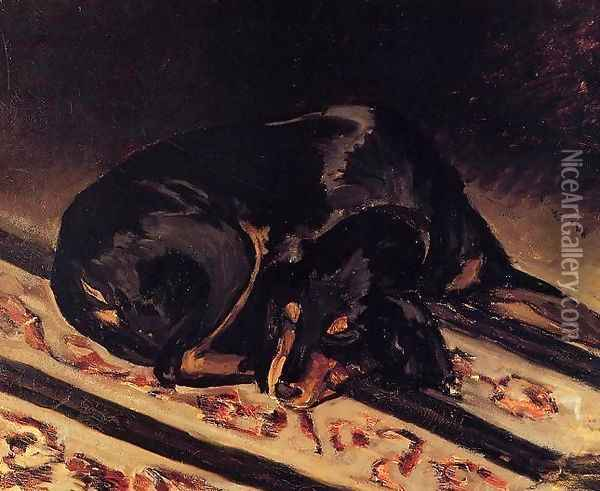 The Dog Rita Asleep Oil Painting - Frederic Bazille