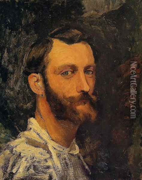Self Portrait Oil Painting - Frederic Bazille